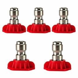 0 Degree High Pressure/Power Washer Spray Nozzle Kit 5 Pack