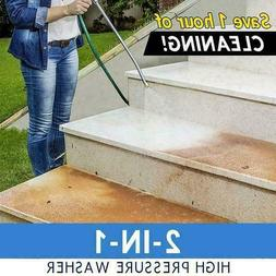 2-In-1 High Pressure Power Washer For Car Sidewalks Washing