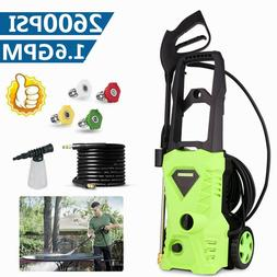 2600PSI 1.6GPM Electric Pressure Washer, High Power Water Cl