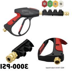3000 PSI Water Gun Nozzles Kit 2 in 1 High Pressure Power Wa