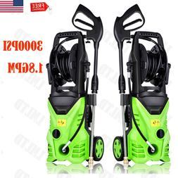 3000PSI 1.8GPM Electric High Pressure Power Washer Auto Jet