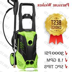 3000PSI High Pressure Car Power Washer Cleaner Water Wash Gu