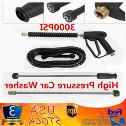 3000PSI High Pressure Car Power Washer Kit Spray Gun 2 Exten
