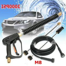 3000PSI High Pressure Car Power Washer Spray Gun Wand Nozzle