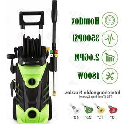 3500PSI 2.6GPM Electric Pressure Washer High Power Auto Jet