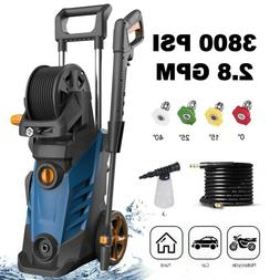 3800PSI 2.8GPM Electric Pressure Washer High Powerful Water