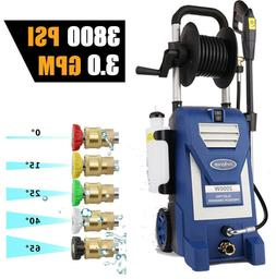 3800PSI 3.00GPM Electric Pressure Washer High Power Cold Wat