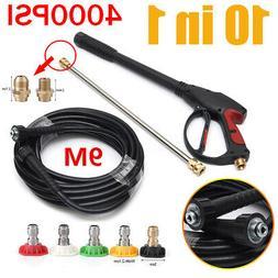4000 PSI High Pressure Car Power Washer Spray Gun Wand Nozzl