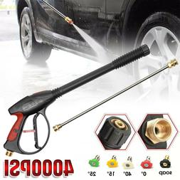 4000PSI High Pressure Car Power Washer Gun Foam Spray Wand L