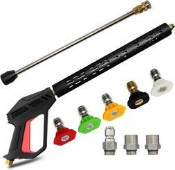 4000PSI M22 High Pressure Power Washer Spray Gun Wand Lance