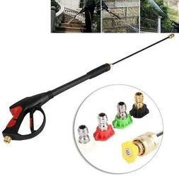 400PSI High Pressure Power Washer Water Spray Gun 5 Nozzle W