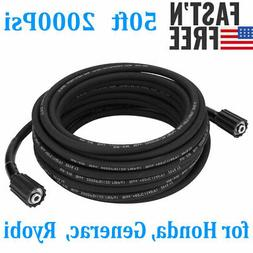 50 ft / 15M High Pressure Washer Hose M22 Cleaning Gun For H