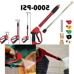 5000 PSI High Pressure Gun Power Washer Wand Replacement Ext