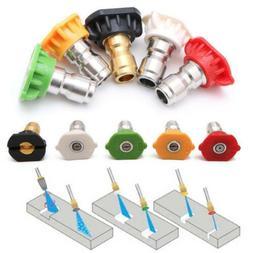 5Pcs Pressure Washer Parts Tips Gun Wand Power Nozzle Spray