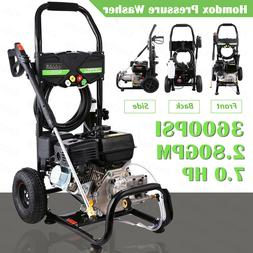 8hp 3950 psi gas powered pressure washer