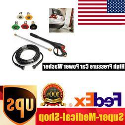8pcs/set 3000PSI High Pressure Car Power Washer KIT Hose Spr
