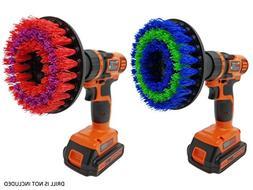 Drill Brush Attachment Scrubbing Set: Beast Brush Spin Power