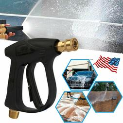 High Pressure Power Washer Gun Water Spray Wand Brass Fittin