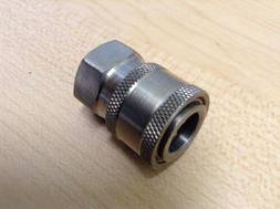 "Power Pressure Washer Fitting 1/4"" FPT Female 1/4 Stainless"