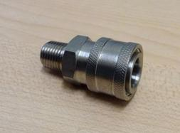 "Power Pressure Washer Fitting 3/8"" MPT Male 3/8 Stainless Qu"