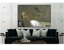 BANKSY - Power Washer - Canvas Wall Art Print - Various Size