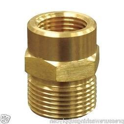 Brass Male M22/14mm to 3/8 NPT Female Adapter. Power Washer