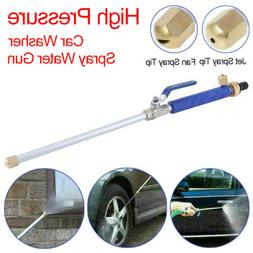 Car/Lawn High Pressure Power Washer Spray Water Gun With Noz