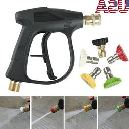 Car Washer Gun 4000PSI Pressure Washer Gun w/ Nozzles Pressu
