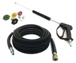 Deluxe SPRAY GUN, WAND, 50' HOSE & TIPS for Power Pressure W