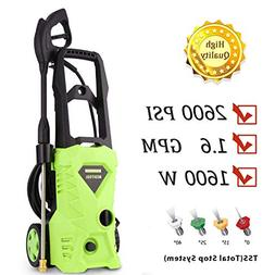 PaPafix Electric Power Pressure Washer 2600 PSI 1.6GPM 1600W