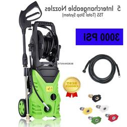 Electric Power Washer with 5 Quick-Connect Spray Tip Cold Wa