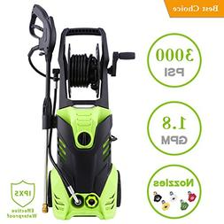 Homself 3000 PSI Electric High Pressure Washer 1.80 GPM 1800