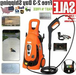 Electric Pressure Washer 2200 PSI 1.8 GPM W/ Power Hose Nozz