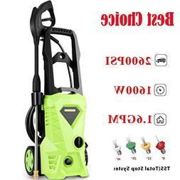Schafter Electric Pressure Washer, 2600 PSI 1.6GPM High Pres