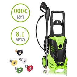 Luckdeal Electric Pressure Washer 3000 PSI Power Washer 1800