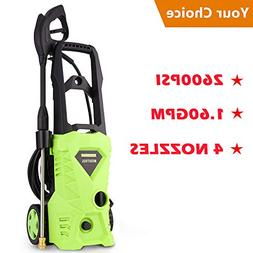 Luckdeal Electric Pressure Washer 2600 PSI Power Washer, Rol