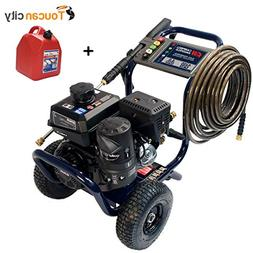 Toucan City Gas Can and Campbell Hausfeld Pressure Washer, 4