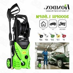 Green 3000PSI High Power Water Electric Pressure Washer 1.8