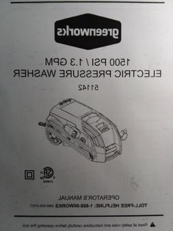Greenworks 1500 psi 1.3 gpm Electric Pressure Washer 51142 O