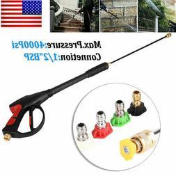 High Pressure 4000PSI Car Power Washer Spray Gun Wand Lance