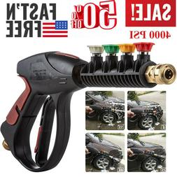 High Pressure 4000PSI Car Power Washer Spray Gun Nozzle Tips