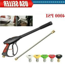 High Pressure Car Power Washer Spray 4 Nozzles Water Gun Lan