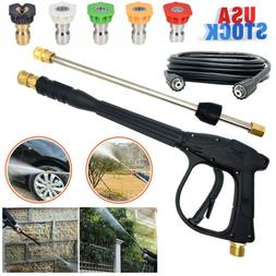 High Pressure Power Washer Spray Gun Wand Lance Nozzle Clean