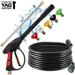 High Pressure Power Washer Spray Gun Wand Lance & Nozzle Tip