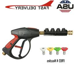4000 PSI High Pressure Power Washer Watergun 4-Color Nozzles