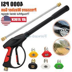 High Pressure Washer Spray Gun 4000PSI Car Power Wand/Lance