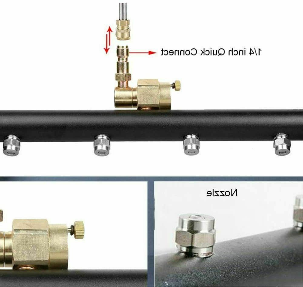 2-in-1 Broom Cleaner Undercarriage Power Driveway Pressure