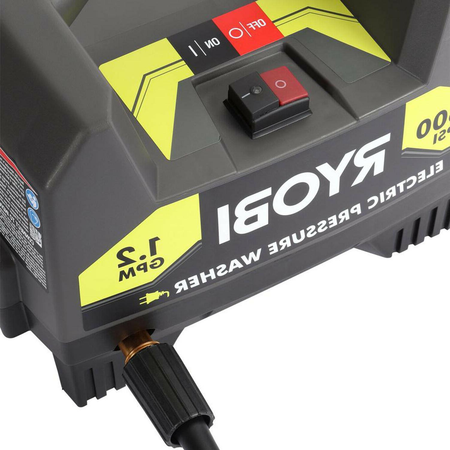 1600 PSI ELECTRIC WASHER RYOBI 1.2 Power Washer Nozzle