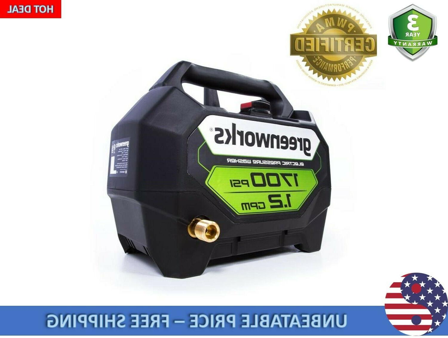 Greenworks 1.2-GPM Water Electric Washer
