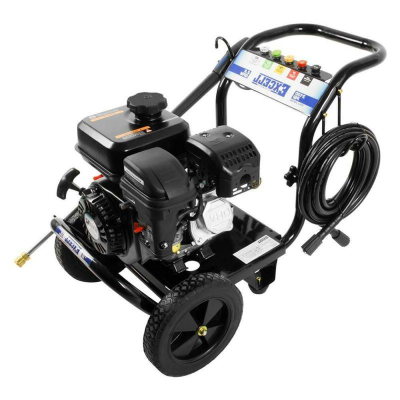 Excell Gas Pressure Washer Ergonomic Spray Powerful 3100 PSI